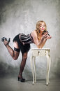 Sexy Pin Up Girl Royalty Free Stock Images - 32237089