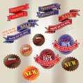 Set Of Vintage Business Labels Stock Photography - 32250892