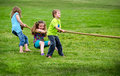 Tug Of War Game Royalty Free Stock Photography - 32258637