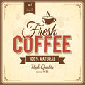 Vintage Coffee Poster With Grunge Effects Royalty Free Stock Photos - 32259588