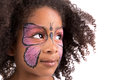 Face Painting, Butterfly Royalty Free Stock Photography - 32262427