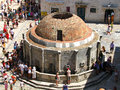 Onofrio S Fountain - The Central Square In Dubrovnic Croatia Royalty Free Stock Image - 32264406