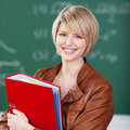 Vivacious Female Student With Class Notes Stock Image - 32267991