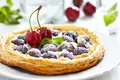 Cherry And Almond Tart Stock Photography - 32273962