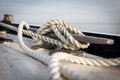 Close Up Of Boat Cleat And Rope Royalty Free Stock Photography - 32297537