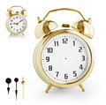 Alarm Clock DIY Kit From Gold Metal. Clipping Path Is Included. Stock Images - 32306654