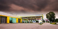 Gasoline Station Station With Mystic Sky Stock Images - 32311674
