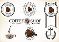 Set Of Vintage Retro Coffee Shop Badges And Labels Royalty Free Stock Images - 32313069