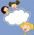 A Stationery With Three Playful Young Girls Royalty Free Stock Image - 32330676