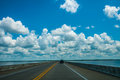 Driving On Road With Water Royalty Free Stock Photography - 32330947