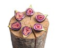 Fruits Figs On Wooden Stump Stock Images - 32332664