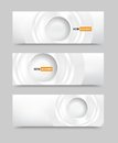 Vector Banner Blank Circles 20.06.2013 Stock Images - 32339884
