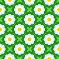 Pattern With Bold Stylized Flowers In 1970s Style Royalty Free Stock Photos - 32341098