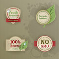 Set Of Vintage Labels With Ecological Thematics Royalty Free Stock Photography - 32345597