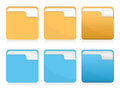 Vector Set Of Folder Icons Stock Photo - 32354340
