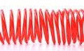 Plastic Spring Isolated On A White Background Royalty Free Stock Photos - 32354468