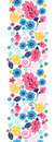Fairytale Flowers Vertical Seamless Pattern Stock Photos - 32371453