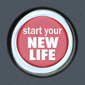 Start A New Life Red Button Press Reset Beginning Royalty Free Stock Photo - 32371815