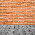 Vintage Interior Of  Brick Wall And Old Wooden Royalty Free Stock Photo - 32380055