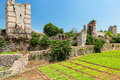 The Ruins Of Famous Ancient Walls Of Constantinople In Istanbul Stock Image - 32388481
