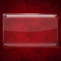 Glass Plate On Red Roses Background Stock Photos - 32388713