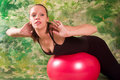 Exercise Ball Rollout Royalty Free Stock Image - 3242256