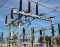 Electrical Power Lines In Sky Stock Images - 3247934