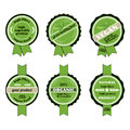 Set Of Bio Badges Royalty Free Stock Photos - 32414388