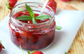Strawberry Jam In A Low Jar Stock Images - 32417754