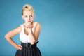 Pin Up Girl Blowing A Kiss - Flirty Royalty Free Stock Photography - 32429177