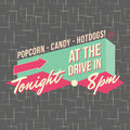 1950s Drive-In Style Logo Design Stock Photo - 32436890