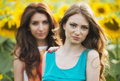 Portrait Of A Beautiful Two Happy Young Women With Long Hair In Stock Photos - 32439733
