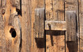 Latch On Old Barn Door Stock Photos - 32456073