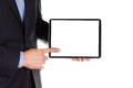 Young Businessman S Hands With Tablet Pc Royalty Free Stock Image - 32468856