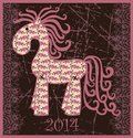 2014 New Year Horse. Royalty Free Stock Photography - 32471067