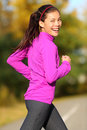 Asian Woman Running - Female Runner In Autumn Stock Images - 32475244