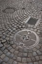Cast Iron Drain Cover Royalty Free Stock Photography - 32476927