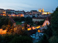 Little Town And Hradcany Castle In The Evening Royalty Free Stock Image - 32479836