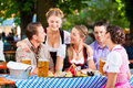 In Beer Garden - Friends On A Table With Beer Stock Photography - 32481112