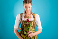 Young Woman In Traditional Clothes - Dirndl Or Tracht Stock Image - 32481351