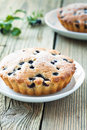 Homemade Mini Fresh Blueberry Pies On White Plate Royalty Free Stock Photography - 32490937