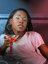 Black Girl In A Night Club Royalty Free Stock Photo - 3254595