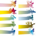 Banners With Animal Silhouette Royalty Free Stock Photography - 3257987