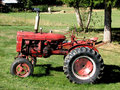 Old Red Tractor Stock Photography - 3259412