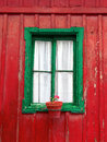 Old Window On An Aged Wooden Wall Of House Stock Photo - 32508440