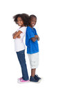 Brother And Sister Back To Back Stock Images - 32512474