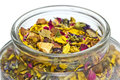Dried Herbs And Flowers In A Jar Stock Photo - 32520220
