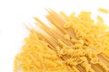 Yellow Italian Pasta In Different Forms Royalty Free Stock Image - 32529996