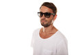 Male Model With Sunglasses Royalty Free Stock Photo - 32537845
