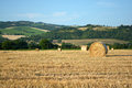 Hay Bales On Field In Late Summer Royalty Free Stock Image - 32548006